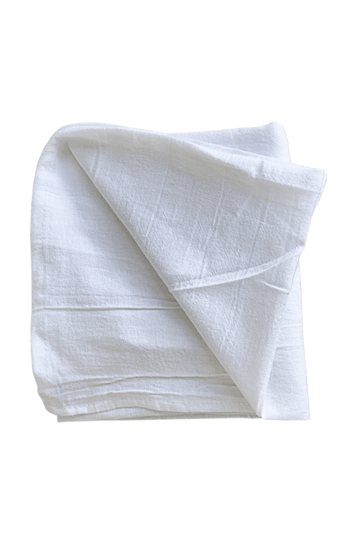 White & Organic Natural Flour Sack Towels