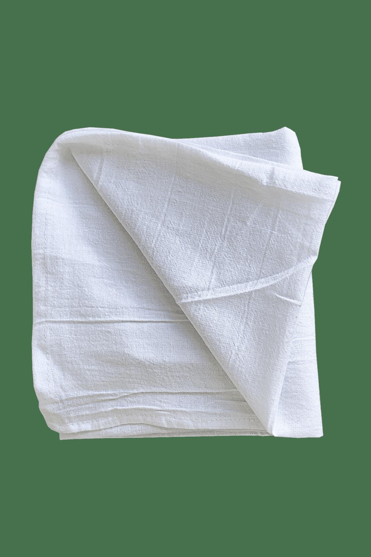 White & Organic Natural Flour Sack Towels, Sample Pack 28