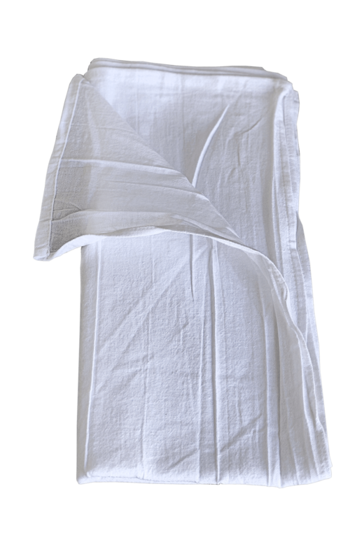 Folded White Sack Towels