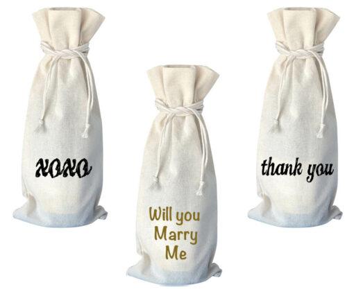 Cotton Printed Wine Bag